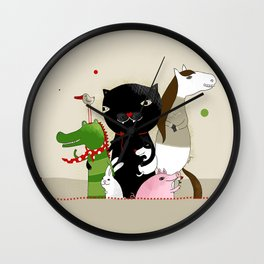 United Animals Wall Clock