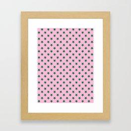 Cadmium Green on Cotton Candy Pink Stars Framed Art Print