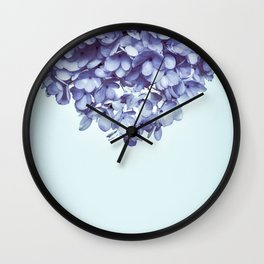 Floral fringe - french blue Wall Clock