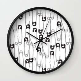 Safety Pin pattern Wall Clock