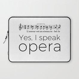 I speak opera (mezzo-soprano) Laptop Sleeve