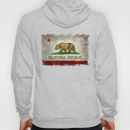 Californian flag the Bear flag in retro grunge Hoody