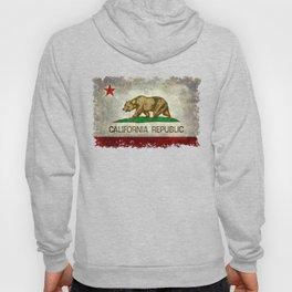 Californian flag the Bear flag in retro grunge Hoody