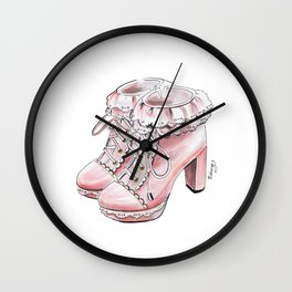 Vintage shoes Wall Clock