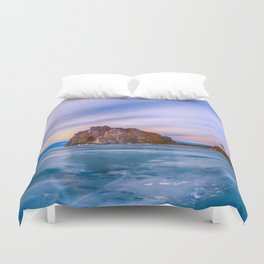 Shaman Rock, lake Baikal Duvet Cover