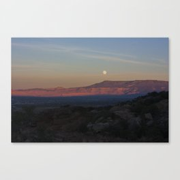 Moon Rise on High Noon 2.0 Canvas Print