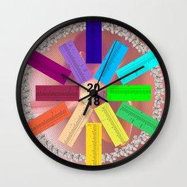 Kalender 2018 de - keltische Feiertage Wall Clock