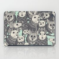 sweater iPad Cases featuring sweater mice mint by Sharon Turner