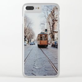 Middle of the road Clear iPhone Case