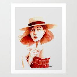 French Beauty Art Print
