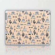 Teepee tent indian summer and cactus garden tribal illustration pattern Laptop & iPad Skin