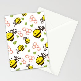 Cuddly Bees and Hives Stationery Cards