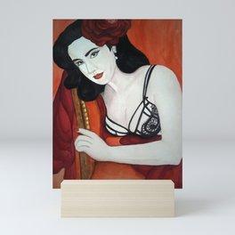 Dita in Red, A Portrait of a Great Icon Mini Art Print
