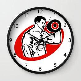 man fitness logo Wall Clock
