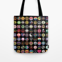 PEACE PATCH COLLECTION (black) Tote Bag