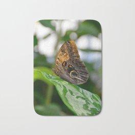 Owl Eye Butterfly by Teresa Thompson Bath Mat