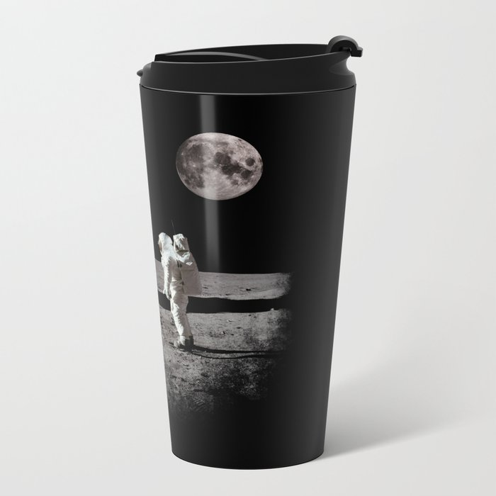 The Great Conspiracy: The Moon Is a Lie Metal Travel Mug