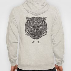 Warrior Owl Face Hoody