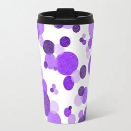 Purple Polka Travel Mug