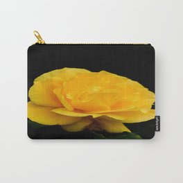 Golden Yellow Rose Isolated on Black Background Carry-All Pouch