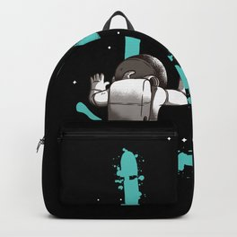 Smile Graffiti With Astronaut In Space Backpack