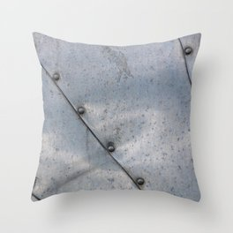 Grunge metal background or texture with scratches and cracks Throw Pillow