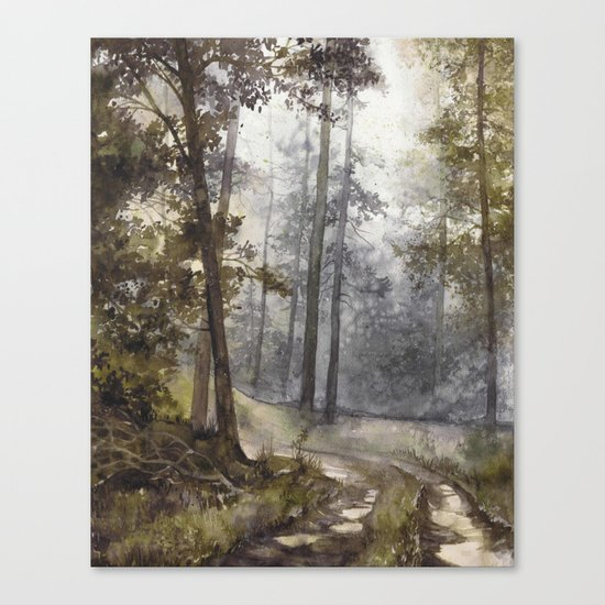 Wet Morning in the Forest Canvas Print