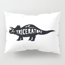 Triceratop Illustration Pillow Sham