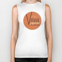 vogue Biker Tanks featuring Vogue by One Little Bird Studio