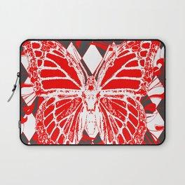 DECORATIVE RED & WHITE HARLEQUIN  PATTERN Laptop Sleeve