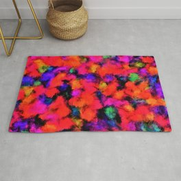 Bright Rainbow Colors Rug