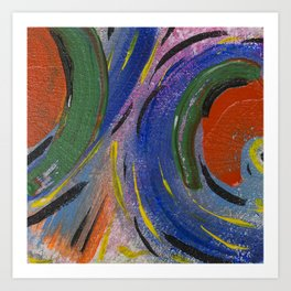 Colorful Bright Abstract Fruity Art Work Art Print