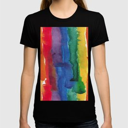 rainbow watercolor T-shirt