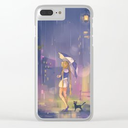 umbrella usagi Clear iPhone Case