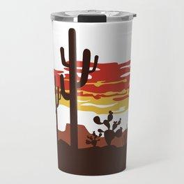 Southwestern Desert Sunset Travel Mug