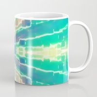 tron Mugs featuring Cotton Candy Tron by Erica Anderson