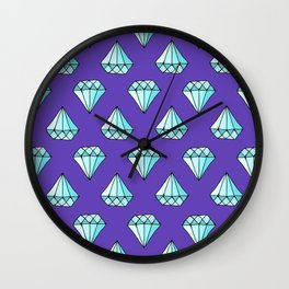Diamond Pattern Wall Clock