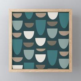 Turquoise Bowls Framed Mini Art Print