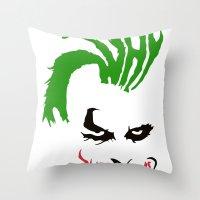 joker Throw Pillows featuring Joker by The Artist
