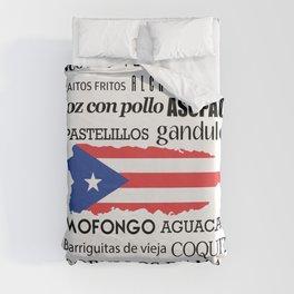 Puerto Rican foody & boricua  cousine  Duvet Cover