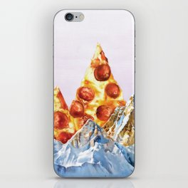 Pepperoni Pizza Peaks iPhone Skin