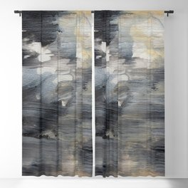 Abstract acrylic painting 37 Blackout Curtain