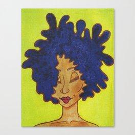 Lola on Green Canvas Print