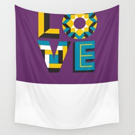LOVE - Purple Wall Tapestry