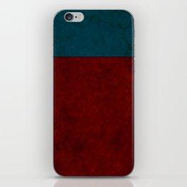 Blue and orange suede iPhone Skin