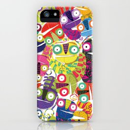 Colored lizards iPhone Case