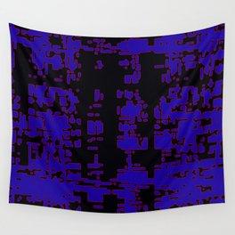 jitter, black blue, 3 Wall Tapestry
