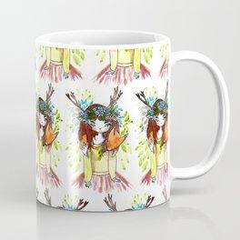 Girl and fox Coffee Mug