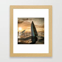 Wrong direction Framed Art Print