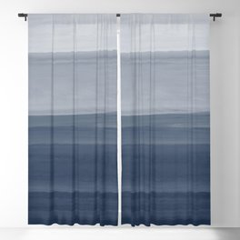 Touching Indigo Blue Watercolor Abstract #1 #painting #decor #art #society6 Blackout Curtain